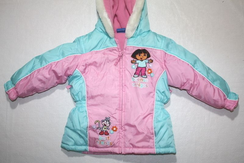 GIRLS WINTER COAT = DORA EXPLORER = SIZE 3T